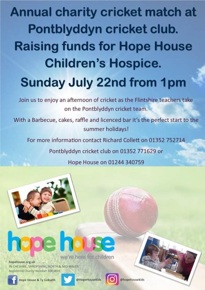 Cricket match poster 22nd July